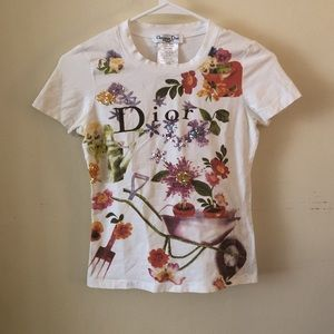 Vintage Dior Sequence Floral Tee
